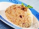 Рецепта Ризото от бял ориз със сушени манатарки, сирене пармезан и бяло вино